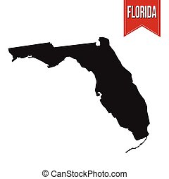 Map of Florida on white