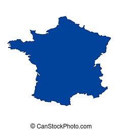 Map of France vector illustration on white background