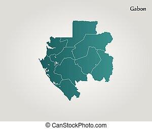 Map of Gabon