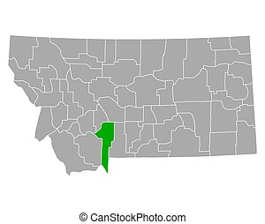 Map of Gallatin in Montana