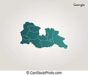 Republic Of Georgia World Map Republic Of Georgia Flag World Map