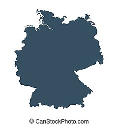 Map of Germany isolated on white background