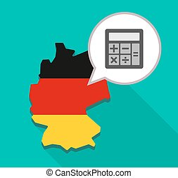 Map of Germany with a calculator