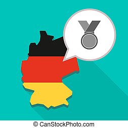 Map of Germany with a medal
