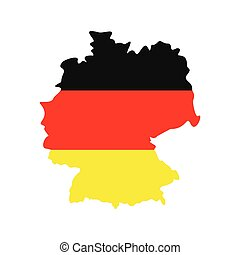 Map of Germany with flag of Germany icon