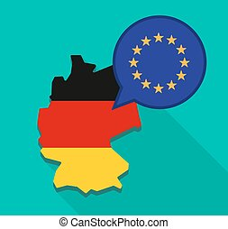 Map of Germany with the EU flag stars