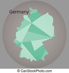 map of Germany,low polygon