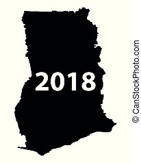 Map of Ghana 2018