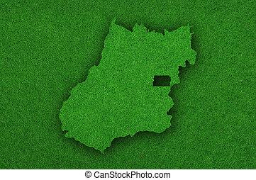 Map of Goias on green felt