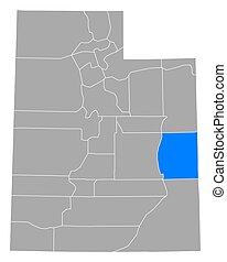 Map of Grand in Utah