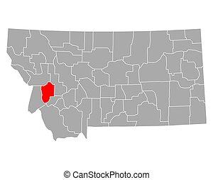 Map of Granite in Montana