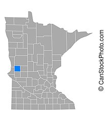 Map of Grant in Minnesota