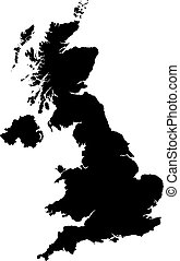 A highly detailed map of Great Britain