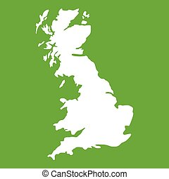 Map of Great Britain icon green