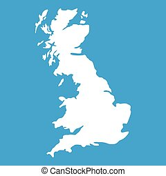 Map of Great Britain icon white