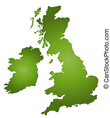 Map Of Great Britain - A stylized blank map of Great...