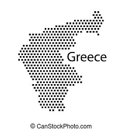 map of Greece,dot