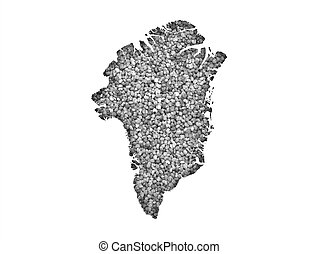 Map of Greenland on poppy seeds