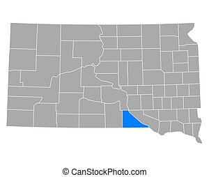 Map of Gregory in South Dakota