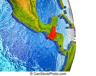 Map of Guatemala on 3D Earth