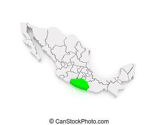 Map of Guerrero. Mexico.