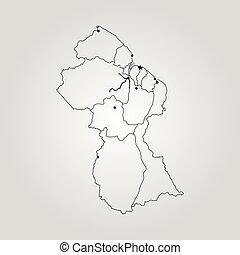 Map of Guyana