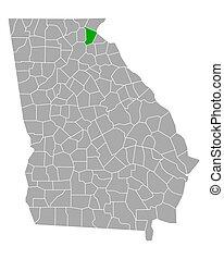 Map of Habersham in Georgia