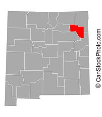Map of Harding in New Mexico