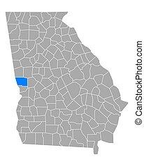 Map of Harris in Georgia