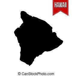 Map of Hawaii on white