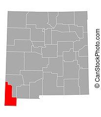 Map of Hidalgo in New Mexico