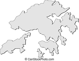 Map hong kong china Map of hong kong a province of eps