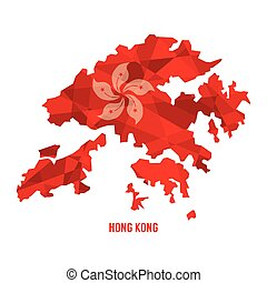 Map of Hong Kong.