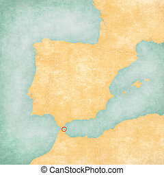 Map of Iberian Peninsula - Ceuta - Ceuta on the map of...