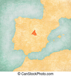 Map of Iberian Peninsula - Madrid - Madrid on the map of...
