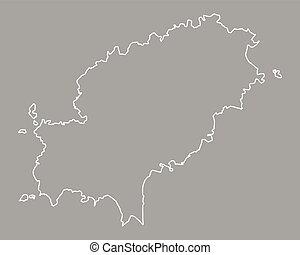 Map of Ibiza
