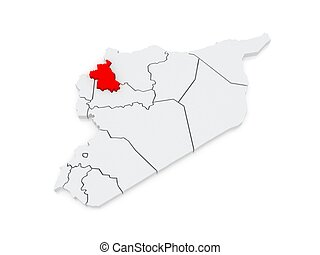 Map of idlib syria 3d drawings Search Clipart Illustration and