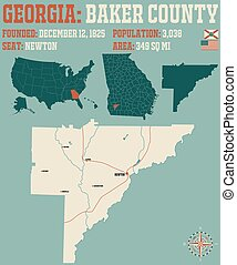 Map of in Baker County Georgia