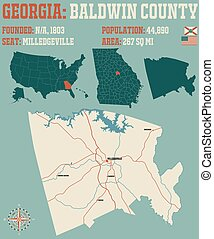 Map of in Baldwin County Georgia