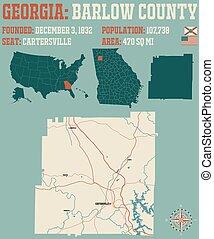 Map of in Barlow County Georgia