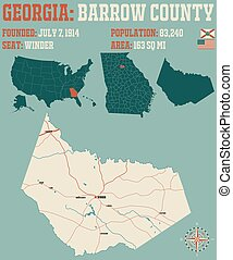 Map of in Barrow County Georgia