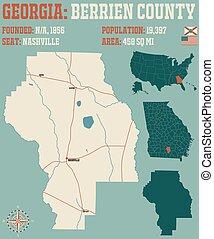 Map of in Berrien County Georgia