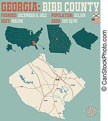 Map of in Bibb County Georgia