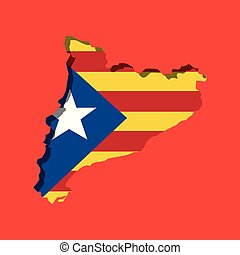 map of independent catalonia nationalist flag socialist ...