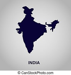 map of India, vector illustration