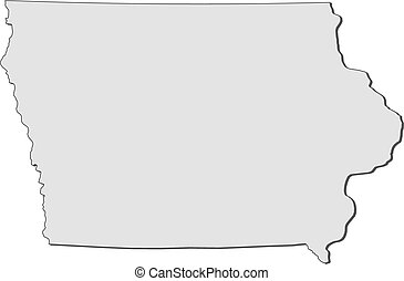 Map of Iowa (United States)