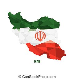 Map of Iran.