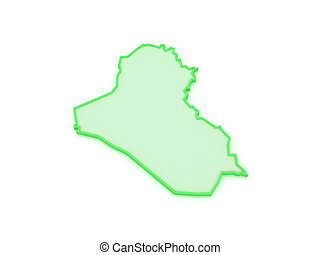 Map of Iraq.