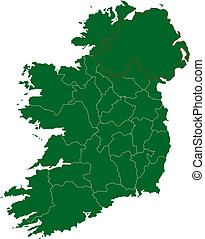 Map of Ireland - There is a map of Ireland country