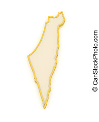 Map of Israel. 3d